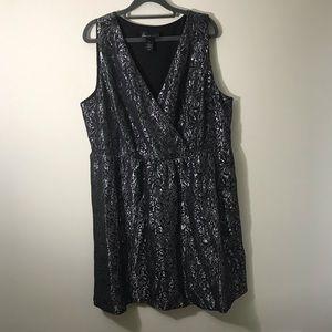 Silver and Black Lane Bryant dress